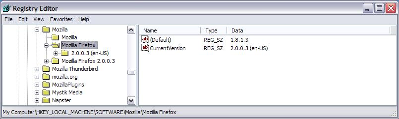 Firefox and the Windows Registry | Mike's Musings